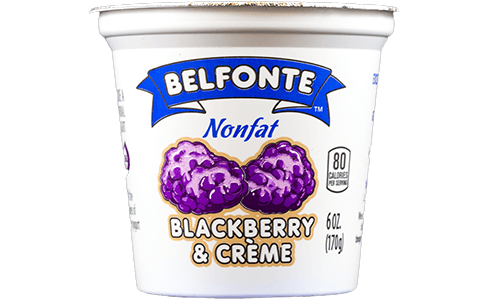 Blackberry & Creme Nonfat Yogurt